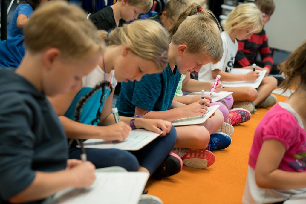 Elementary Students Study