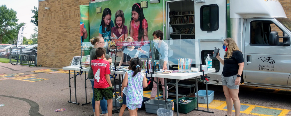 Kid Link collaborating Bookmobile visits LBA